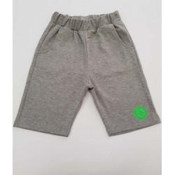 панталонки сив меланж със зелено-37053