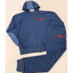 екип в синьо с качулка и виснала долница-36957