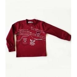 тънка блузка вишна-2935