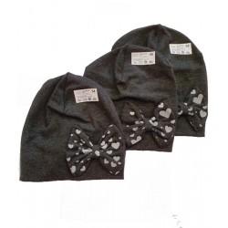шапка плетиво с панделка-7410