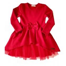 червена рокля трико-2970