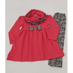 рокля с клин и шал-12909
