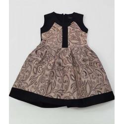 стилна рокля в капучино-4334