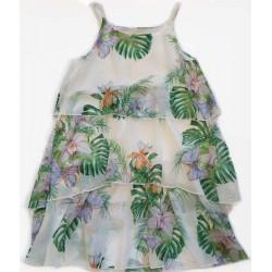 рокля шифон тропически листа-22170