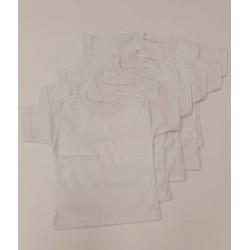 тениска с къс ръкав сингъл бяла -28269