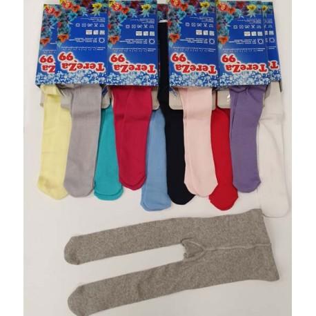 Едноцветни памучни чорапогащници- 10000