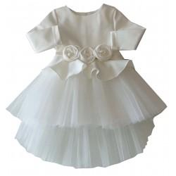 празнична рокля с рози-99053