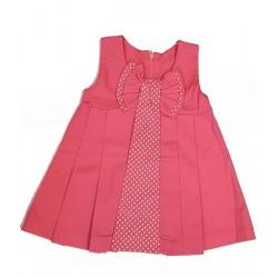 рокля памук с кокетна панделка-13418