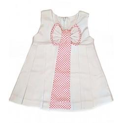 бяла рокличка памук-13418