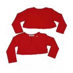 червено болеро с къдри-3085