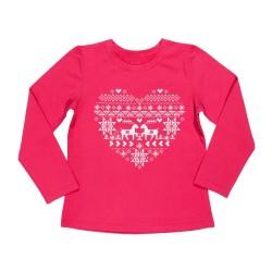 тънка блузка с Еленчета-3558