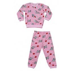 пижамка сингъл щампа бонбонено розово-70107