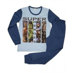 пижамка супергерои в синьо-4567