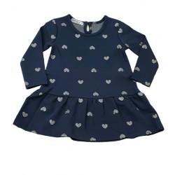 рокля трико със сърца от брокат-2811