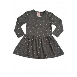 тънка рокля в сиво на сърца-2811