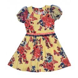 жълта рокля с пеперуди-13222