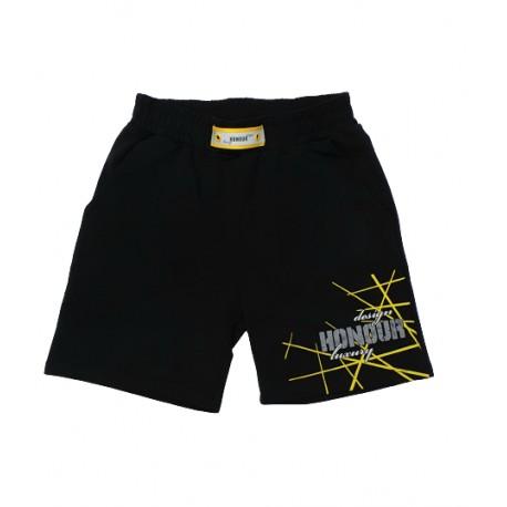 къси панталонки жълта щампа-3803