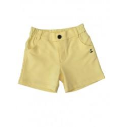 жълти панталонки трико с джобчета-99190