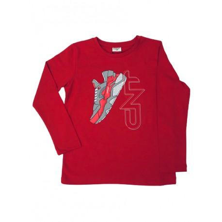 блузка Кец в червено-99225